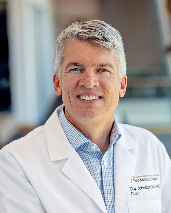 Dell Medical School dean Dr S Clairborne 'Clay' Johnston, dell healthcare
