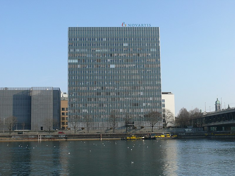 Novartis campus in Basel, Switzerland. (Credit: Silesia711/Wikipedia.)