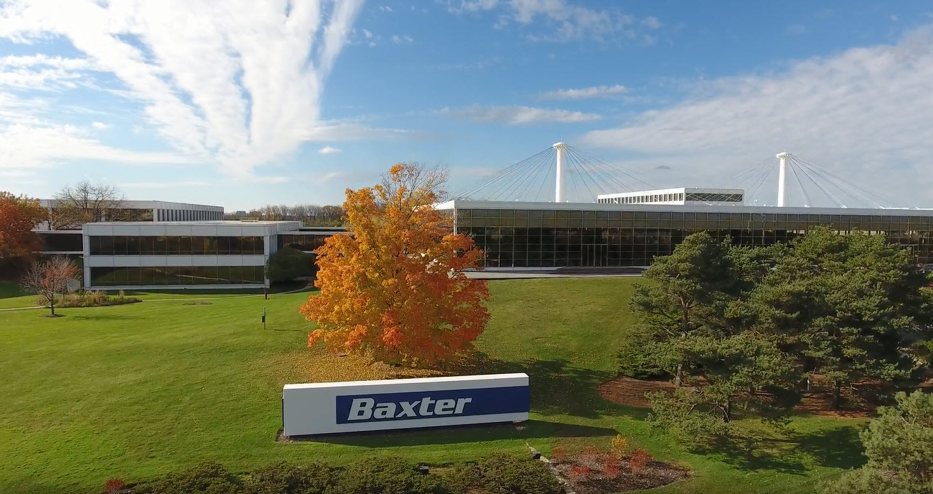 Baxter's global headquarters in Deerfield, Ill. (Credit: Business Wire.)